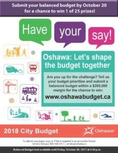Balance the Oshawa Budget
