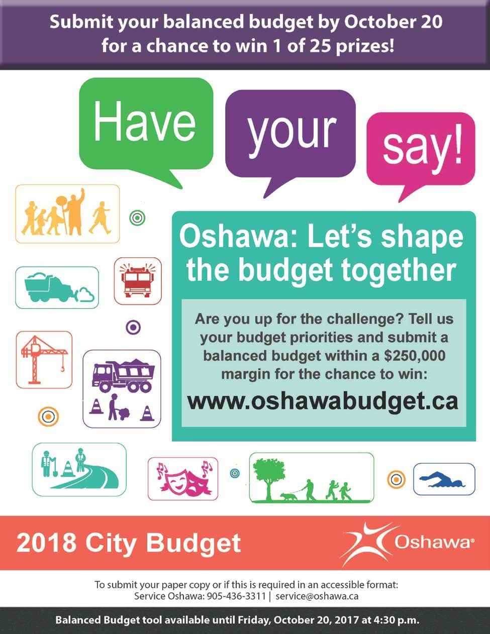 Balance the Oshawa Budget