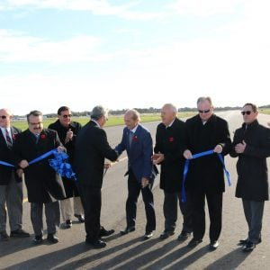 Region and Oshawa celebrate official re-opening of Oshawa Executive Airport runway