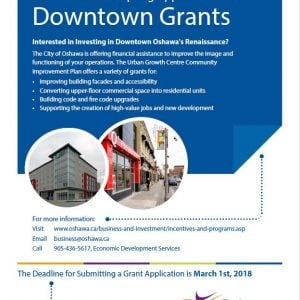 Oshawa now accepting applications for Downtown Grants