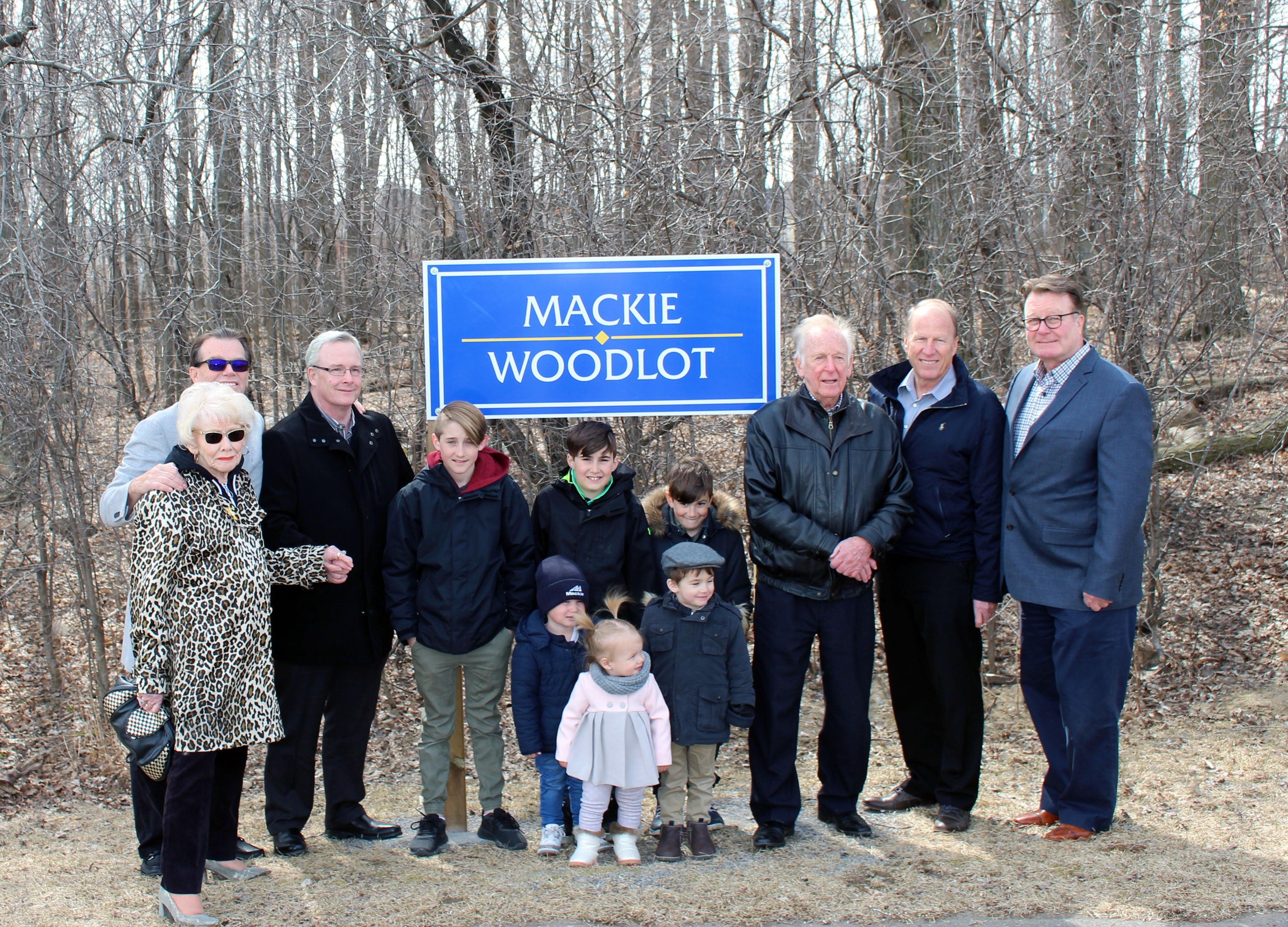 City of Oshawa Honours the Mackie Family at a Park and Woodlot Naming Ceremony