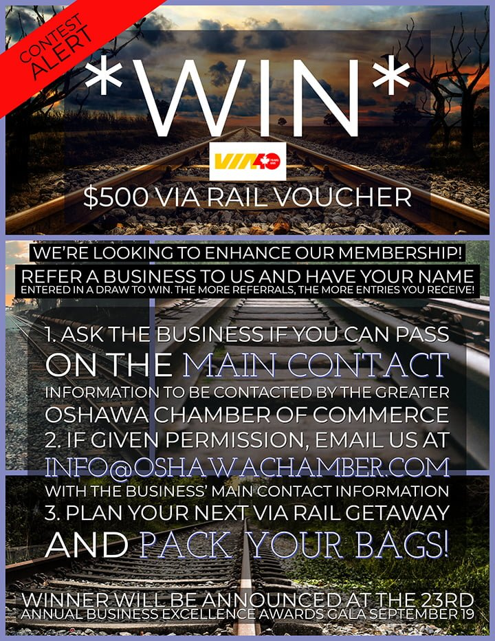 Contest Alert! *Greater Oshawa Chamber of Commerce Members*